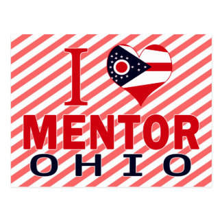 I love Mentor, Ohio Postcard
