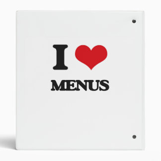 I Love Menus 3 Ring Binder