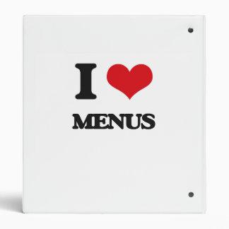 I Love Menus 3 Ring Binder