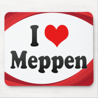 I Love Meppen Germany Ich Liebe Meppen Germany Mouse Pad