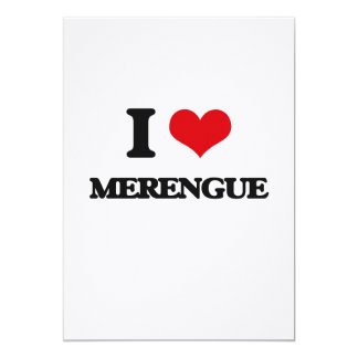 I Love MERENGUE 5x7 Paper Invitation Card