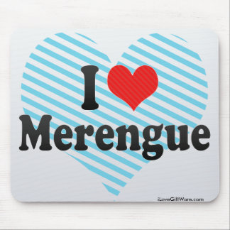 I Love Merengue Mouse Pad