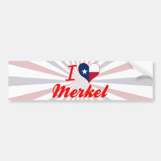 I Love Merkel, Texas Car Bumper Sticker