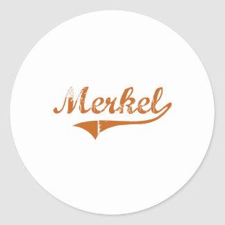 I Love Merkel Texas Classic Round Sticker