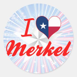 I Love Merkel, Texas Classic Round Sticker