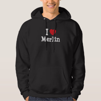I love Merlin heart custom personalized Hoodie
