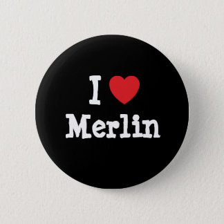 I love Merlin heart custom personalized Pinback Button