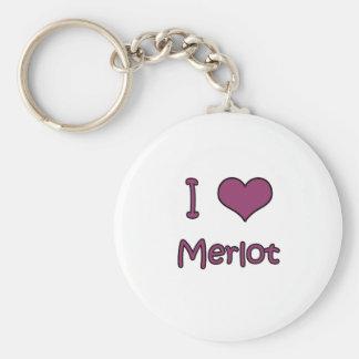 I Love Merlot Key Chain