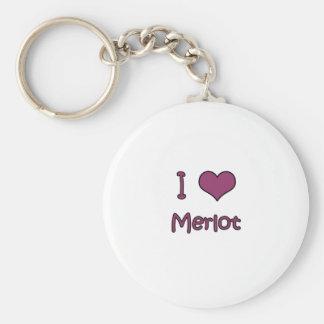 I Love Merlot Key Chains