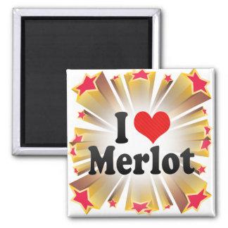 I Love Merlot Refrigerator Magnet