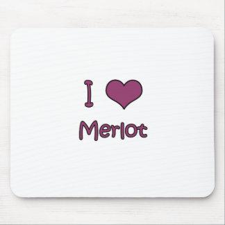 I Love Merlot Mouse Mats