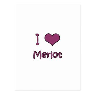 I Love Merlot Post Cards