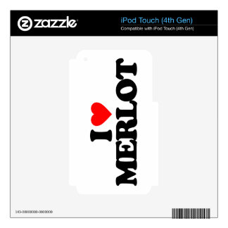 I LOVE MERLOT iPod TOUCH 4G DECAL