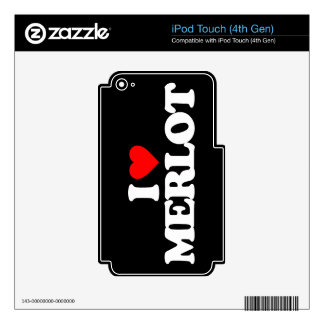I LOVE MERLOT iPod TOUCH 4G DECALS