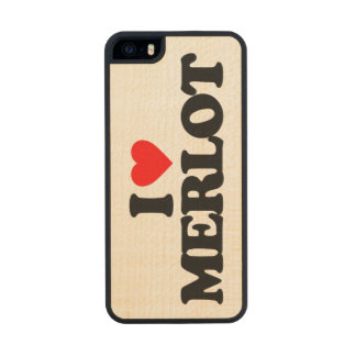 I LOVE MERLOT CARVED® MAPLE iPhone 5 SLIM CASE