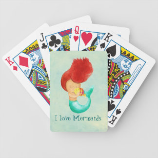 I love Mermaids Bicycle Playing Cards