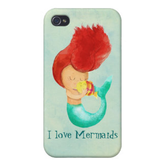 I love Mermaids Covers For iPhone 4