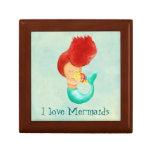 I love Mermaids Keepsake Box