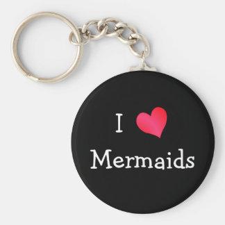 I Love Mermaids Keychains