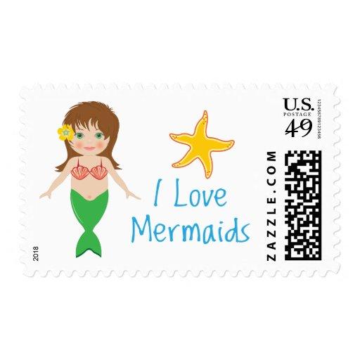 I love Mermaids! Stamp