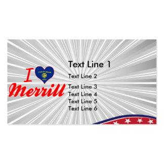 I Love Merrill, Oregon Business Card Templates