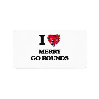 I Love Merry Go Rounds Address Label