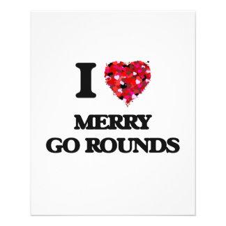 "I Love Merry Go Rounds 4.5"" X 5.6"" Flyer"