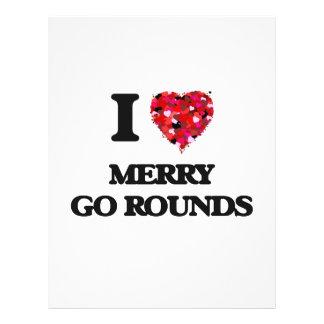 "I Love Merry Go Rounds 8.5"" X 11"" Flyer"