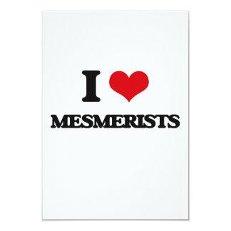 "I love Mesmerists 3.5"" X 5"" Invitation Card"