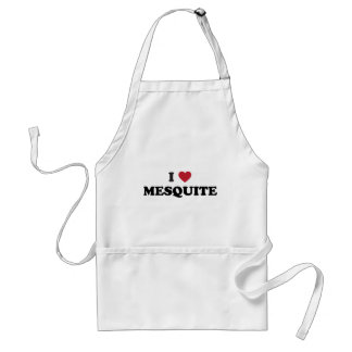 I Love Mesquite Texas Adult Apron