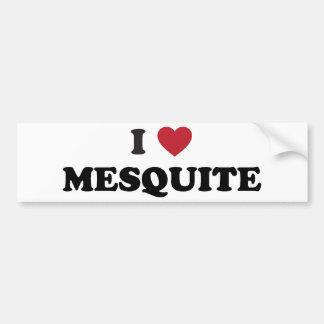 I Love Mesquite Texas Bumper Sticker