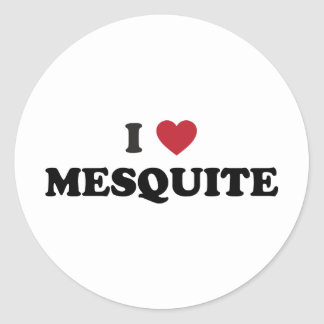I Love Mesquite Texas Classic Round Sticker