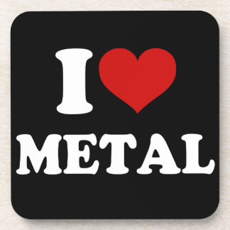 I Love Metal Drink Coaster