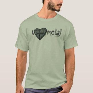 I love metal iron heart graphic art cool t-shirt