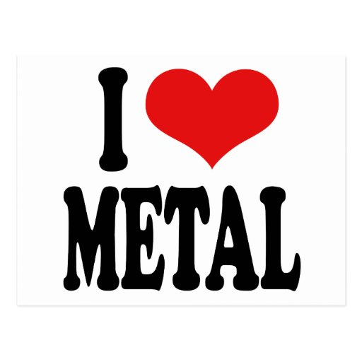I Love Metal Postcard