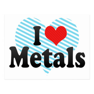 I Love Metals Postcard