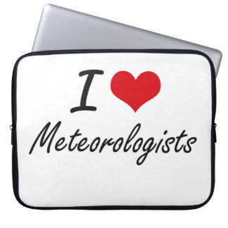 I love Meteorologists Laptop Computer Sleeves