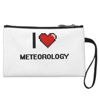 I Love Meteorology Digital Design Wristlet Purses