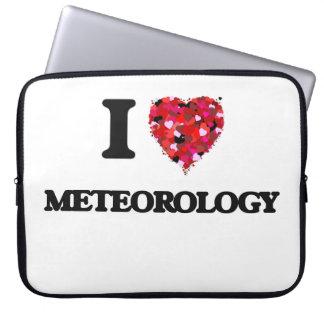 I Love Meteorology Laptop Computer Sleeve