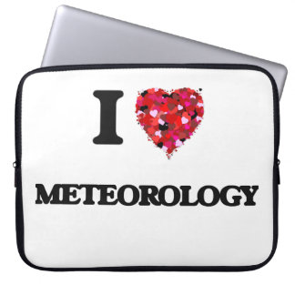 I Love Meteorology Laptop Sleeves