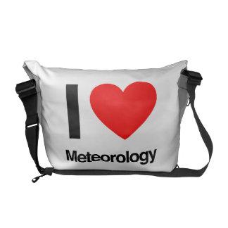 i love meteorology messenger bag