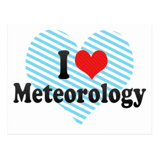 I Love Meteorology Postcard