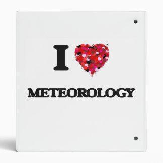 I Love Meteorology Vinyl Binder