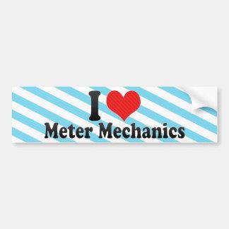 I Love Meter Mechanics Bumper Sticker