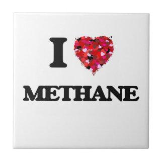 I Love Methane Small Square Tile