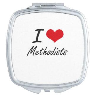 I Love Methodists Vanity Mirror