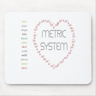 I love Metric System Mouse Pad