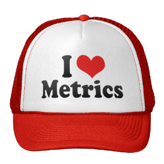 I Love Metrics Trucker Hat