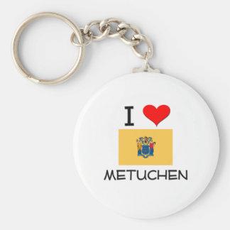 I Love Metuchen New Jersey Basic Round Button Keychain