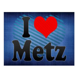 I Love Metz, France Postcard